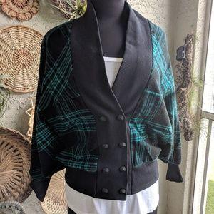 Vintage S 1980's plaid jacket excellent condition